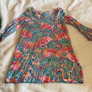 Long sleeve flamingo Lilly dress